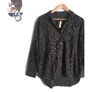 Madewell•Oversized Ex-Boyfriend Shirt •Star Print